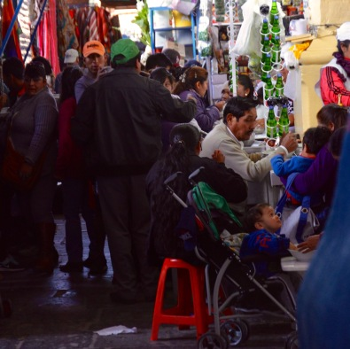The bustling Mercato San Pedro