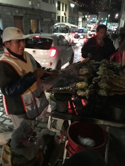 The anticucho barbecues on the streets of Cusco add energy to the night scenes there.