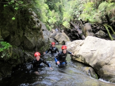 Wading through narrow water passageways, you're glad of your wetsuit!
