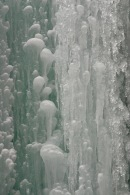 The ice formations were beautiful in waterfall after waterfall.
