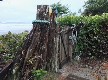 The gate from the yard to the popular surf beach.