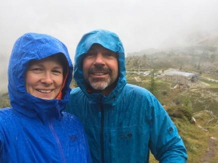 Hiking in the rain!