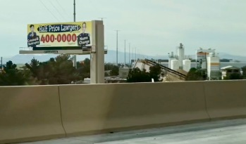 A sign we saw on the road into Vegas.